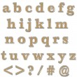 Orange Bling Lowercase Alphabet — Foto Stock