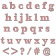 Stock Photo: Red Bling Lowercase Alphabet
