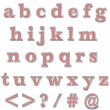 Red Bling Lowercase Alphabet — Stock fotografie #12365465
