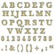 Yellow Bling Uppercase Alphabet — Stock Photo