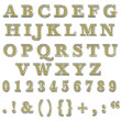Yellow Bling Uppercase Alphabet - Stock Photo