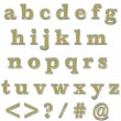Foto Stock: Yellow Bling Lowercase Alphabet