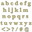 Yellow Bling Lowercase Alphabet - Stock Photo
