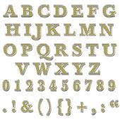 Sarı bling büyük harfli alfabe — Stok fotoğraf