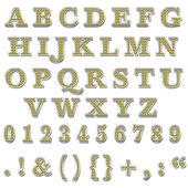 Yellow Bling Uppercase Alphabet — Stock Photo