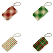 Christmas Patterned Gift Tags - Plaid & Polkadot — Foto de Stock