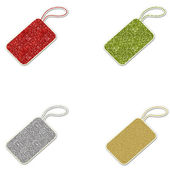 Glitter Gift Tags - Red Yellow Silver & Gold — Stock Photo