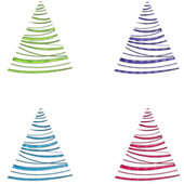 Swirly Christmas Trees in Colorful Sand — Stock Photo