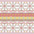 Aztecs seamless pattern on pink color — Stock Vector