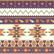 Seamless colorful aztec pattern - Vektorgrafik