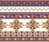 Motif aztèque coloré sans soudure — Vecteur