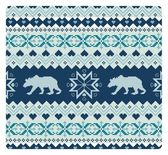Seamless knitted pattern with bears — Stock Vector