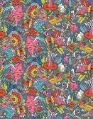 Vintage floral pattern sans couture avec oiseau — Vecteur