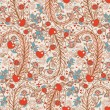 Seamless valentines decor pattern with flowers — Stock Vector #19804449