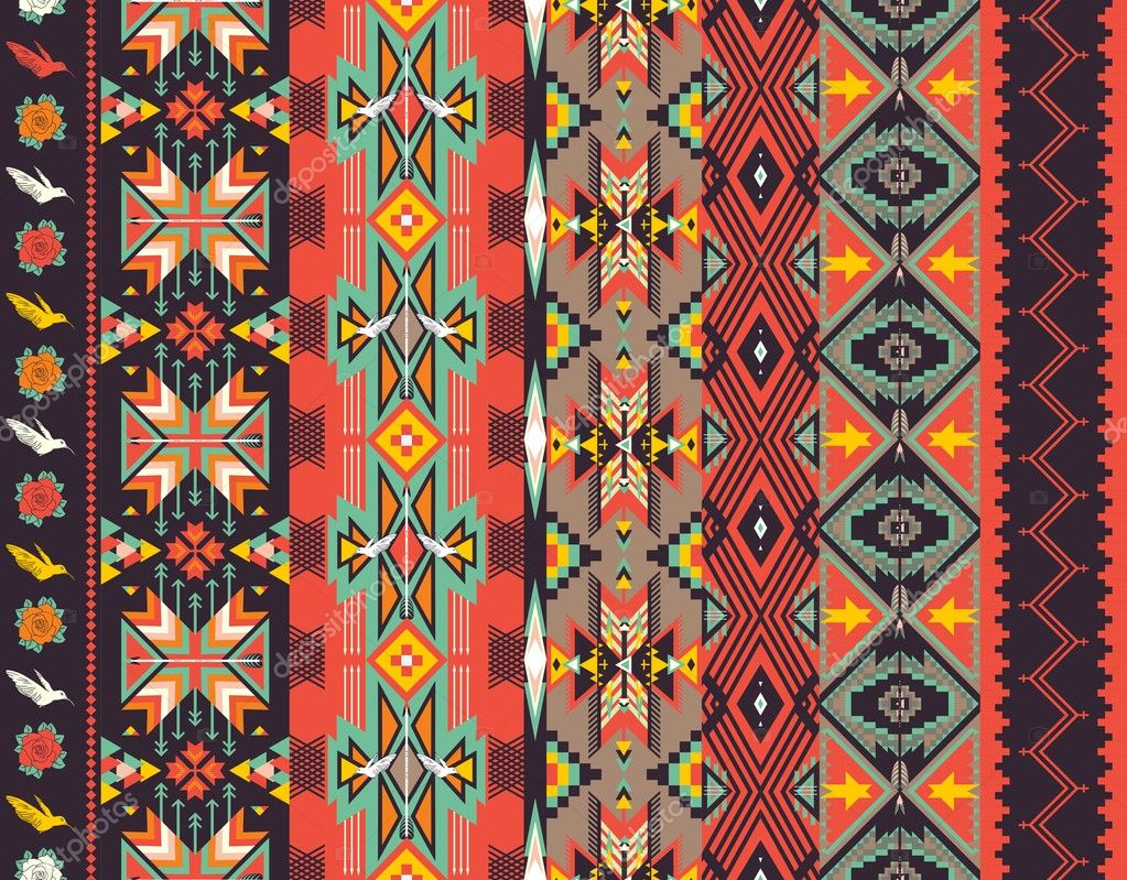 Aztec Designs And Patterns Aztecs Seamless Pattern on Hot