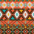 Aztec geometric seamless pattern — Stock Vector