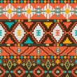 Aztec geometric seamless pattern - Stockvektor