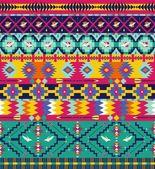 Aztec geometric seamless pattern — Stock Vector