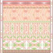 Seamless colorful aztec geometric pattern with birds and arrows - Stock Vector