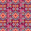 Seamless colorful aztec geometric pattern — Stock Vector