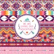 Hipster seamless colorful tribal pattern with geometric elements and quotes typographic text — Stock Vector