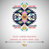 Vector decorative  element  on native ethnic style — Stock Vector