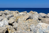 Wybrzeżu rodos — Zdjęcie stockowe