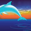 Dolphin jumping out of water — Stock Vector #13250605