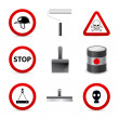 Stock Vector: Danger building icons