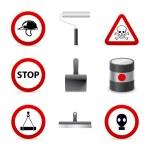 Danger building icons — Stock Vector #14391499