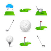 Golf icon — Stock Vector