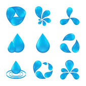 Set of abstract icon waters designs — Stock Vector