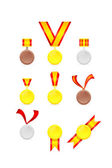 Set of golden tags — Stock Vector