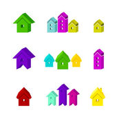 Set of house icon for advertising real estate services — Stock Vector