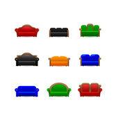Set sofa icons — Stock Vector