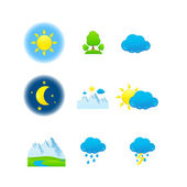 Weather & nature icons — Vector de stock