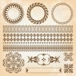 Stock Vector: Collection of beautiful vintage elements for design