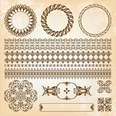 Collection of beautiful vintage elements for design — Stock Vector