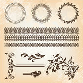 Set of beautiful design elements — Stock Vector