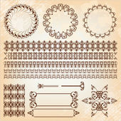 Set of abstract baroque pattern — Stock Vector