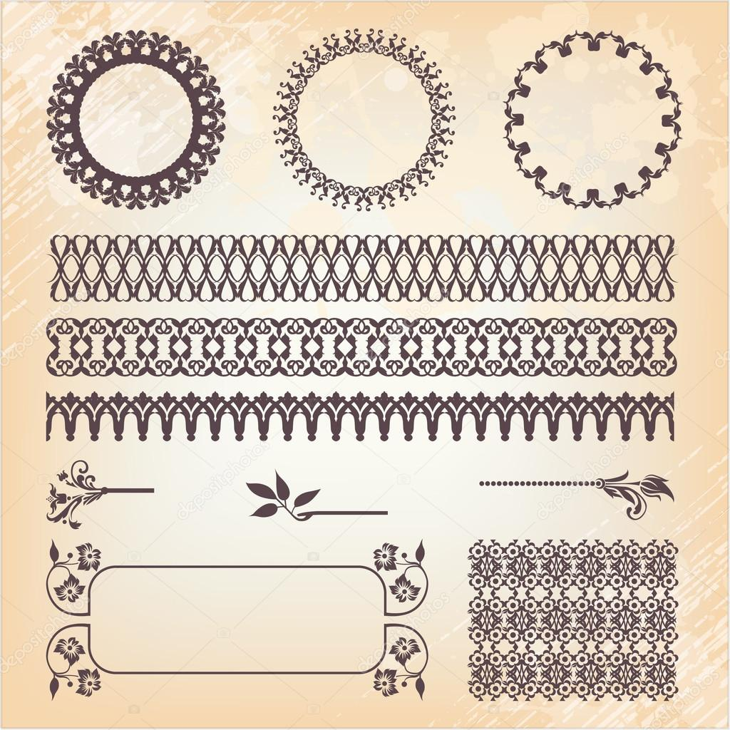 Vintage style ornaments - Vintage Style Ornate Design Ornaments And Page Decoration Stock Vector 16911489