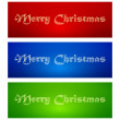 Marry Christmas banners — Stock Vector