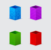 Four cones gift boxes — Stockvector