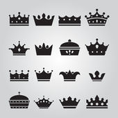 Set of Crowns Icons — Stock Vector