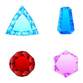 Beautiful set of diamonds — Stockvector
