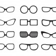Stock Vector: Glasses set