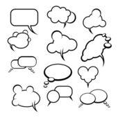 Arka planda çizgi roman tarzı konuşma balonları / balonlar — Stok Vektör