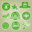 Stock Vector: Collection of eco and bio labels, badges and icons