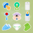 Baby icons — Stock Vector #18916059