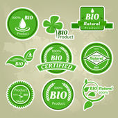 Collection of eco and bio labels, badges and icons — Stock Vector